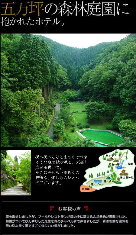 五万坪の森林庭園に抱かれたホテル
